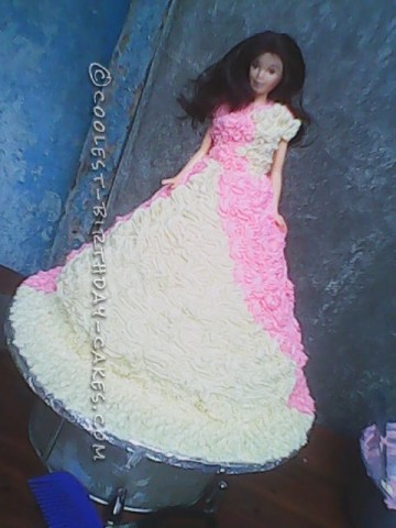 Coolest Barbie Doll Birthday Cake