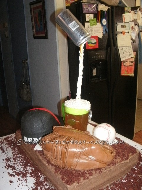 Coolest Baseball and Beer Themed 40th Birthday Party Cake