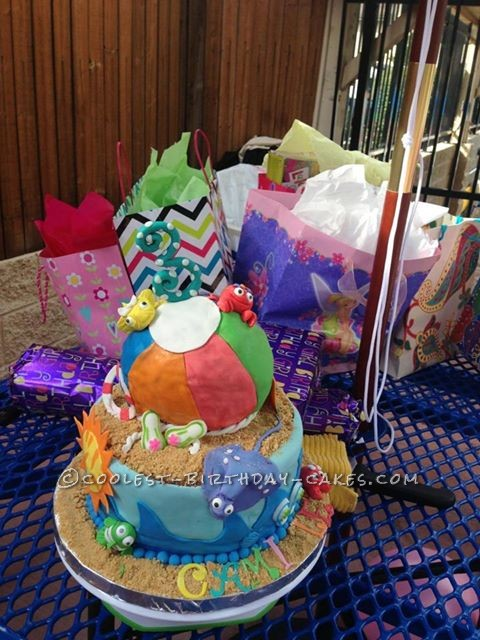 Coolest Beach Party Birthday Cake
