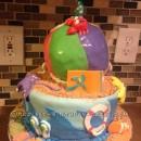Coolest Beach Party Birthday Cake