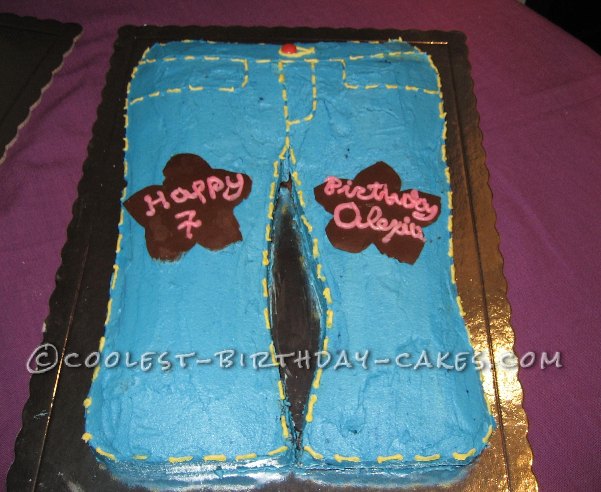 Coolest Blue Jeans Cake
