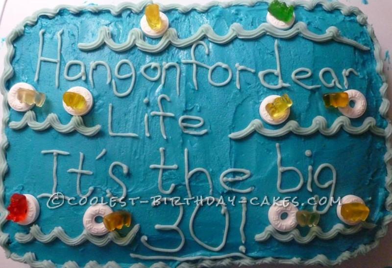 30th Birthday Ocean Life Savers Birthday Cake