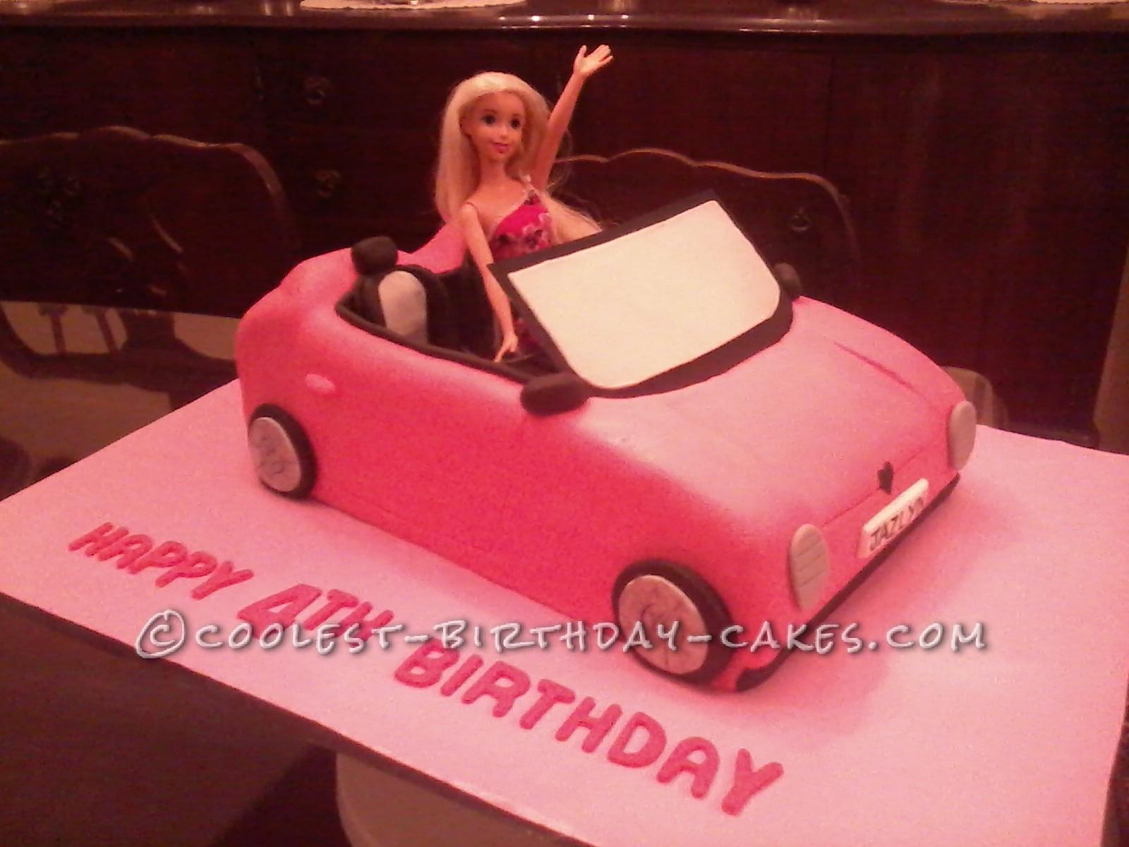Coolest Barbie's Car Birthday Cake