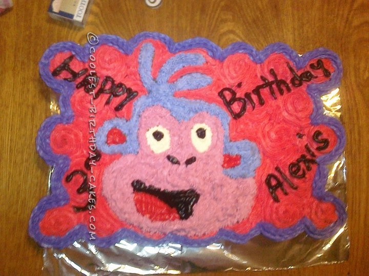 Boot's cake from Dora the Explorer