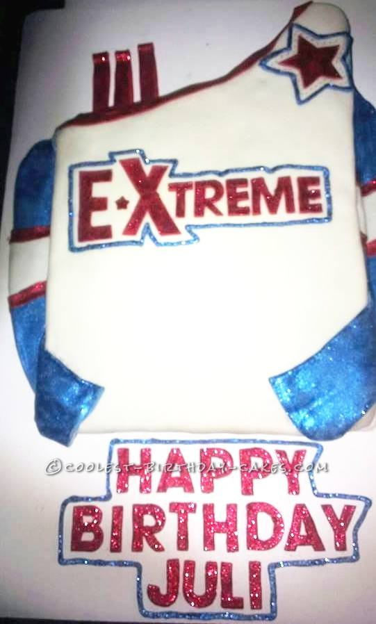 Swell Coolest Homemade Cheerleading Cakes Funny Birthday Cards Online Alyptdamsfinfo