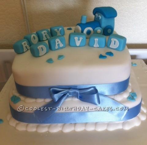 Coolest Christening Cake