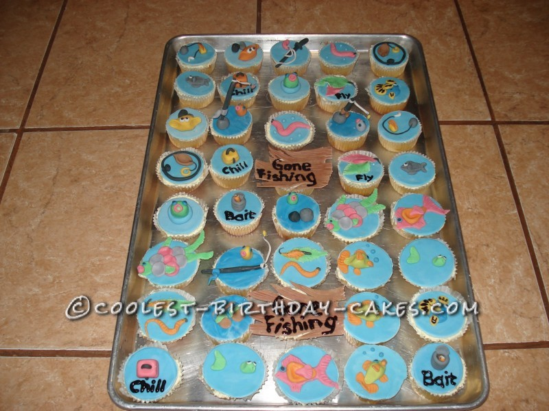 Coolest Gone Fishing Cup Cakes