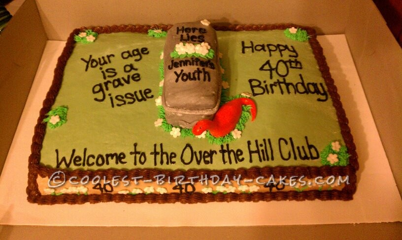 Coolest Over the Hill Cake