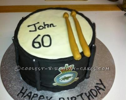 Pleasing Coolest Homemade Drum Cakes Funny Birthday Cards Online Alyptdamsfinfo