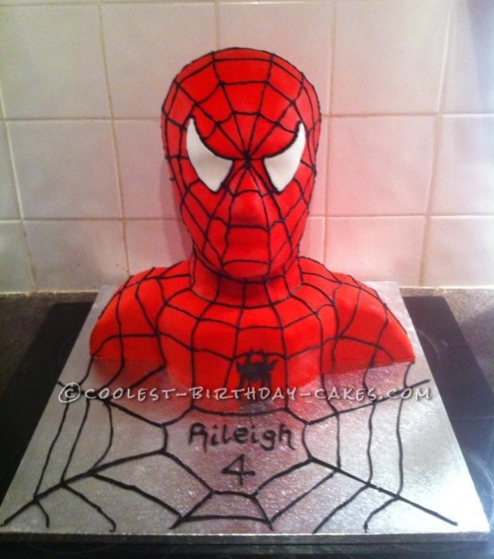 Coolest Spiderman Bust Cake