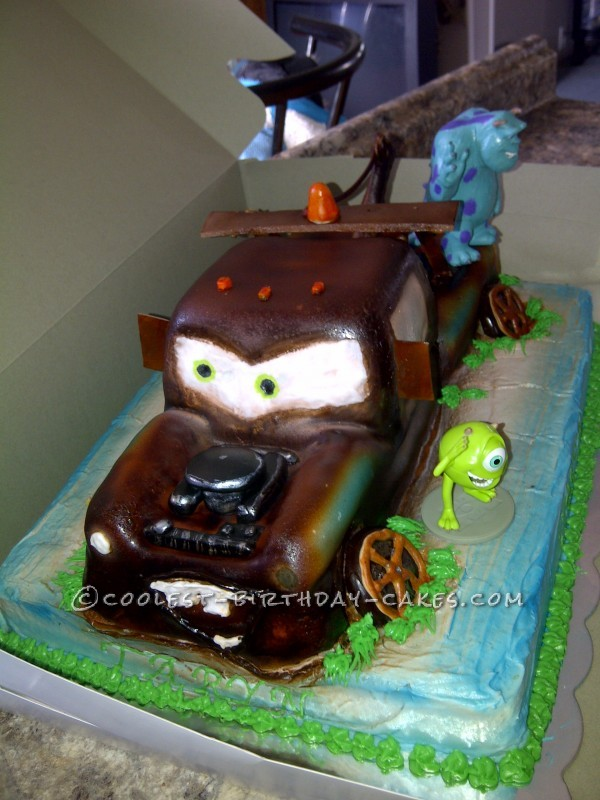 Superb Coolest Homemade Tow Mater Cakes Funny Birthday Cards Online Alyptdamsfinfo