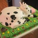 Coolest Cow Birthday Cake