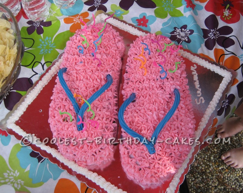 Coolest Flipflop Cake