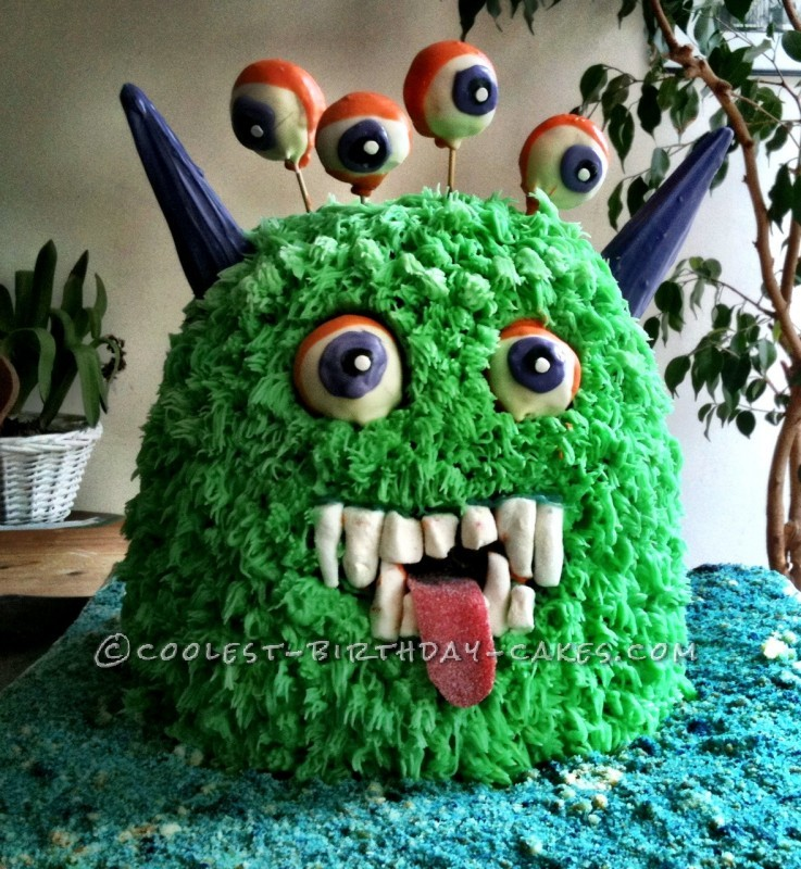 Excellent Coolest Homemade Alien Monster Cakes Personalised Birthday Cards Arneslily Jamesorg