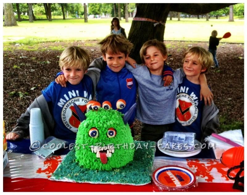 Cool Googly Eyed Monster Cake