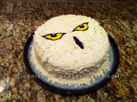 Coolest Hedwig Cake for a 9-year-old Harry Potter Fan