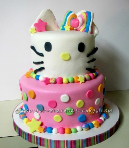 front of cake