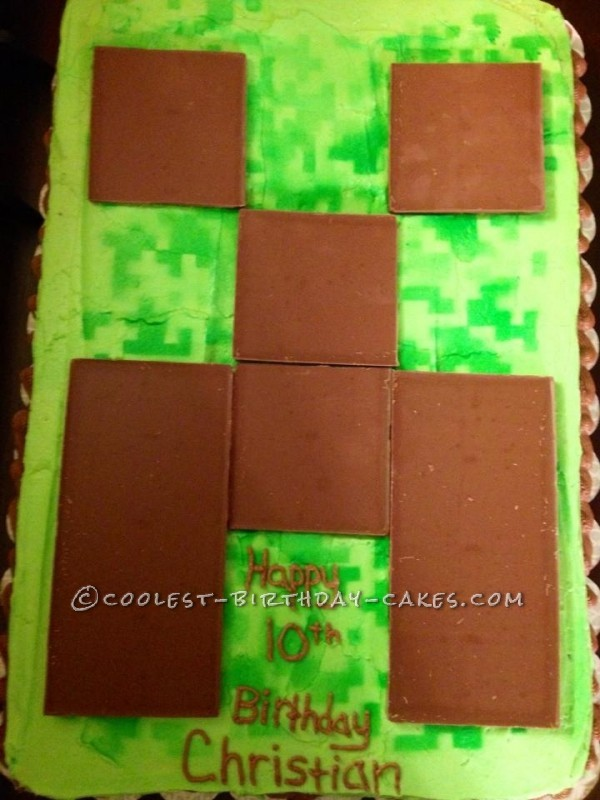Stupendous 30 Coolest Homemade Minecraft Cakes For Birthday Parties Funny Birthday Cards Online Alyptdamsfinfo