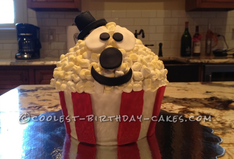 Astounding Coolest Popcorn Cake For Movie Themed Birthday Funny Birthday Cards Online Alyptdamsfinfo