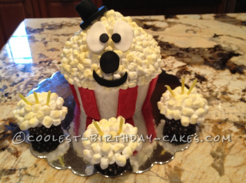 Coolest Popcorn Cake for Movie Themed Birthday