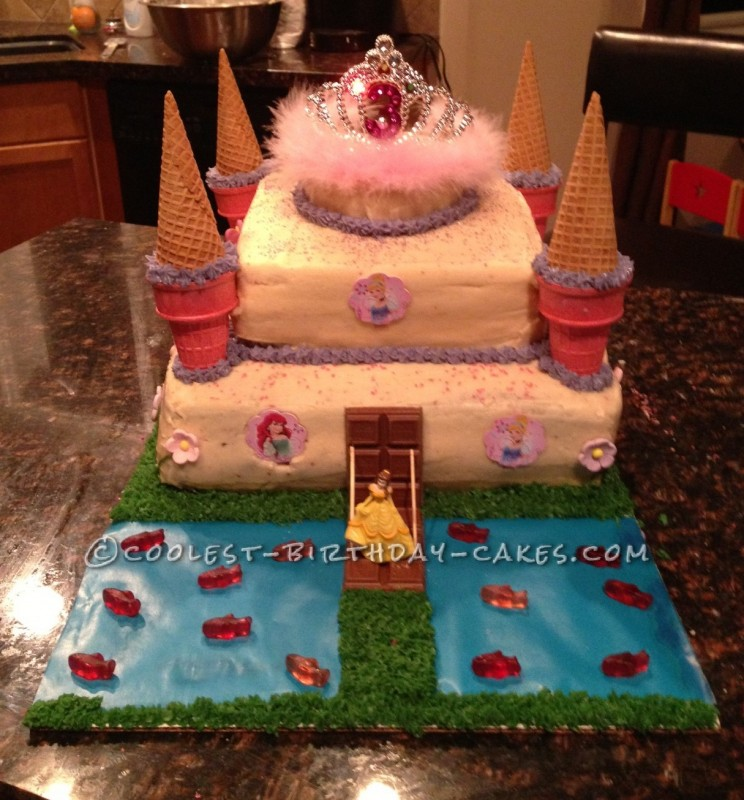 Coolest Princess Castle Birthday Cake