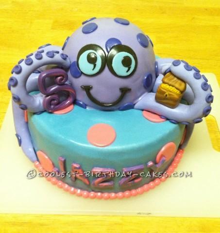 Red Velvet Octopus Birthday Cake