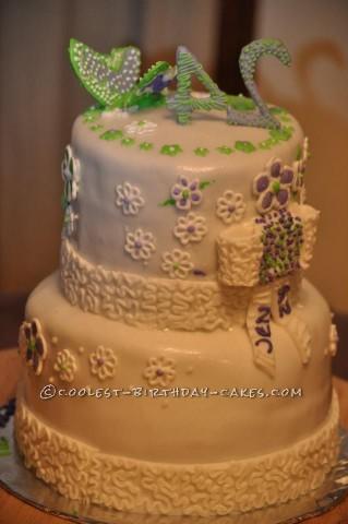 Simple Birthday Beauty Cake
