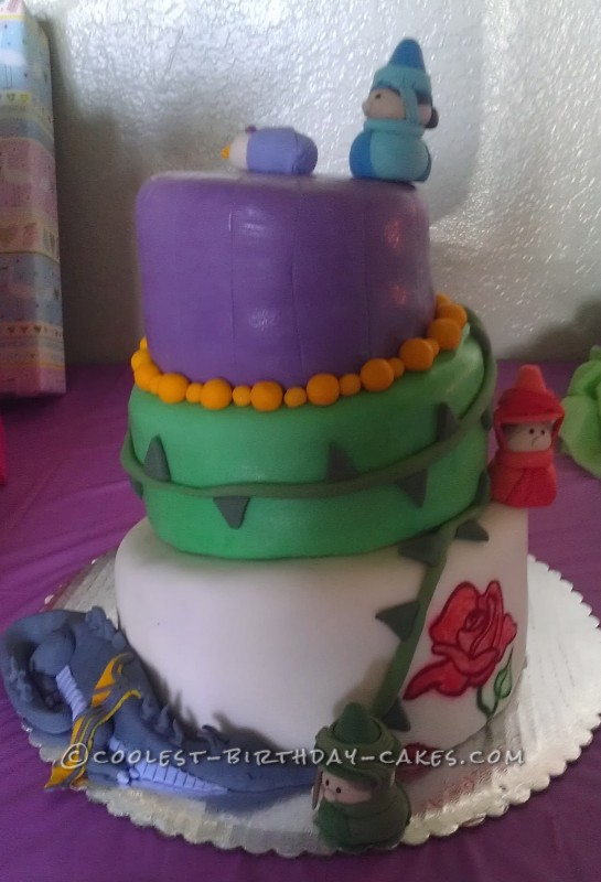 Coolest Sleeping Beauty Baby Shower Cake