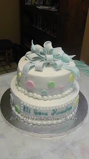Sweet Baby Shower Cake by a Church Granny