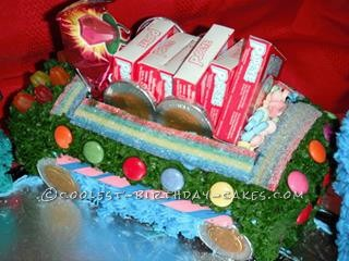 Coolest Thomas the Train Baby Shower Cake