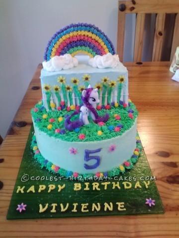 Coolest Unicorn Rainbow Cake