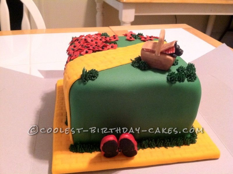 Coolest Wizard Toto Yellow Brick Road Birthday Cake