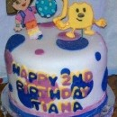 Coolest Wow Wow Wubbzy and Dora 2nd Birthday Fondant Cake