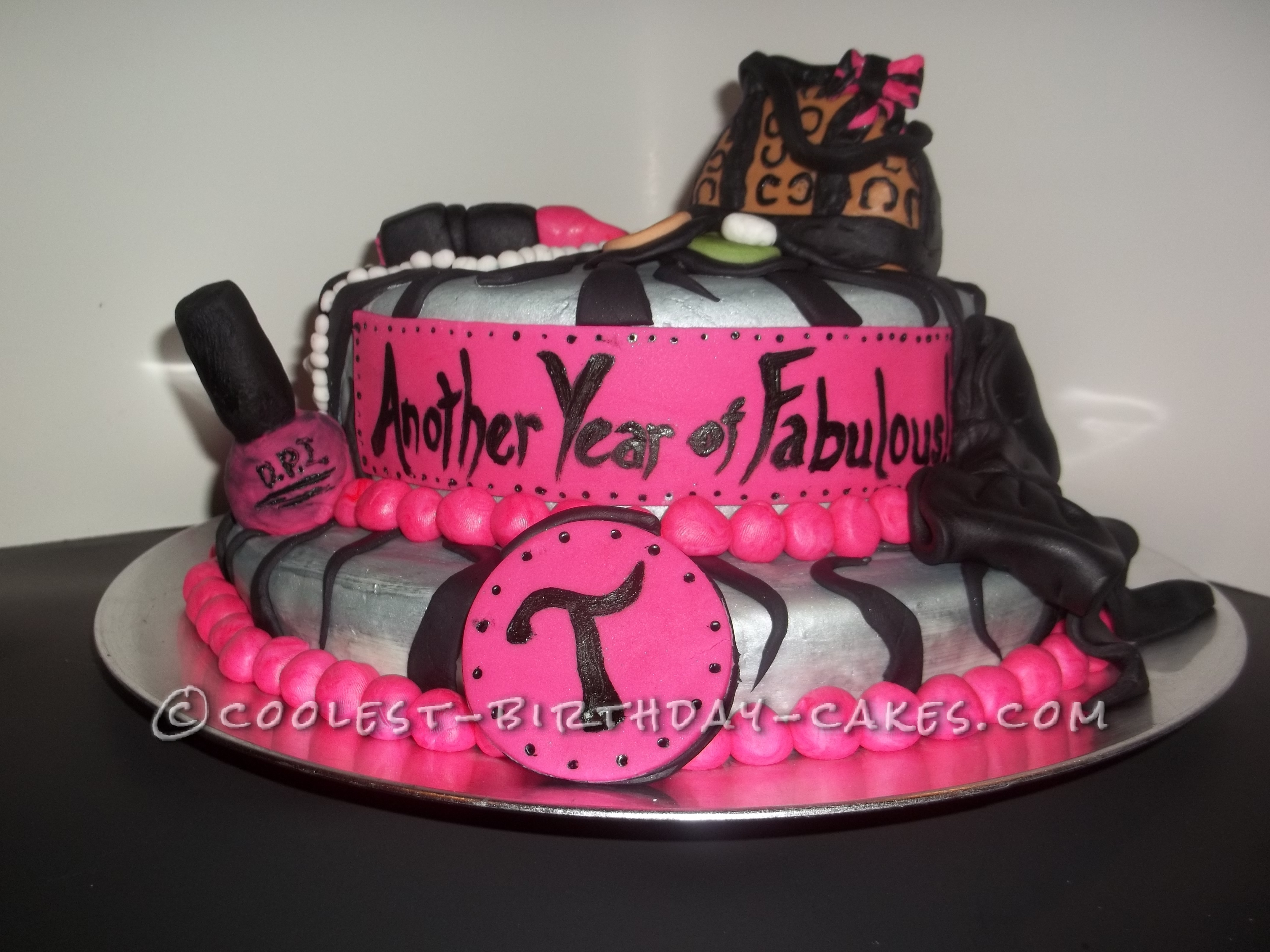 Coolest Glamour Birthday Cake for a Fabulous Friend