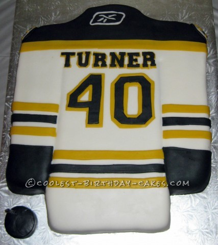 Coolest Boston Bruins' Jersey Cake For My 40th Birthday Party