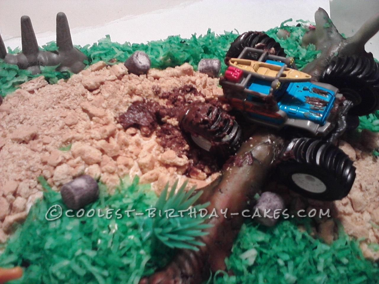 Cool Monster Truck Birthday Cake Idea