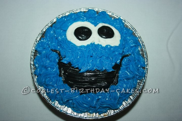 cookie monster cake pan instructions