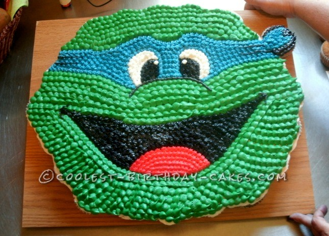 Cool Ninja Turtle Cupcake Birthday Cake