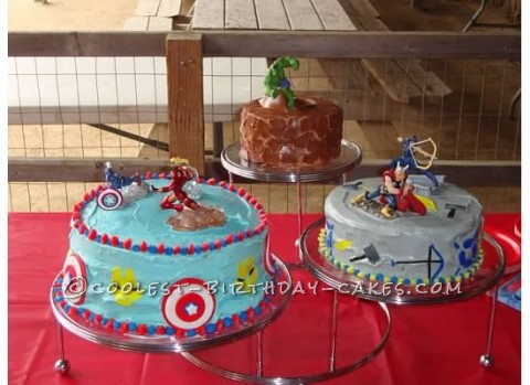 Coolest Avengers Birthday Cake