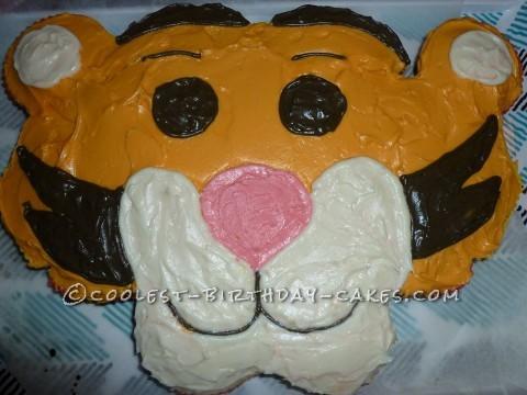 Coolest Breakaway Cupcake Tigger Face Cake