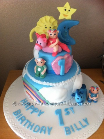 Coolest Homemade Cloud Babies Cake