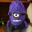 Purple evil minion - Brandons 7th birthday cake
