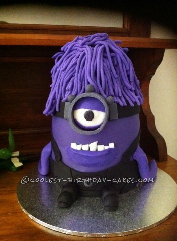 Purple evil minion - Brandons 7th birthday cake xxxx