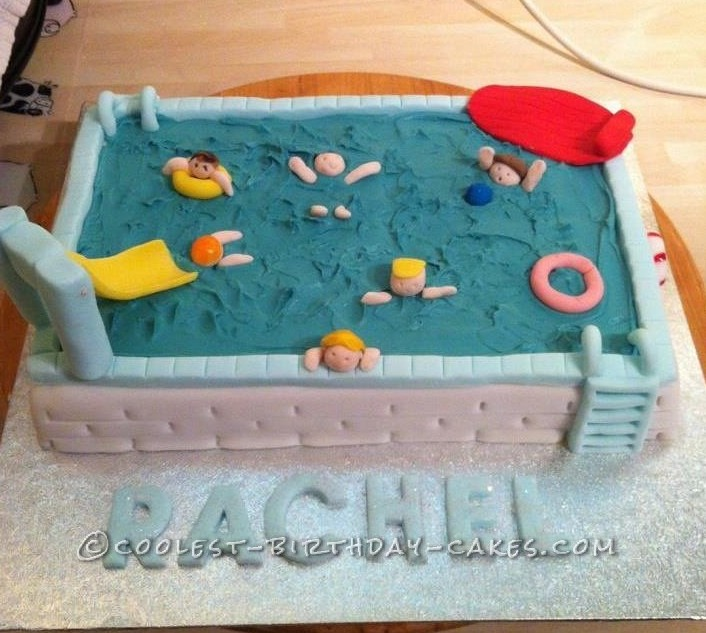Coolest Swimming Pool Cake
