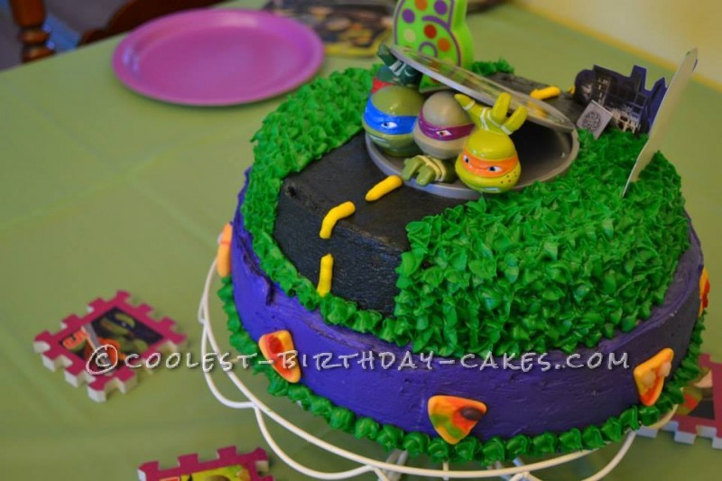 TMNT cake for a 6 year old!