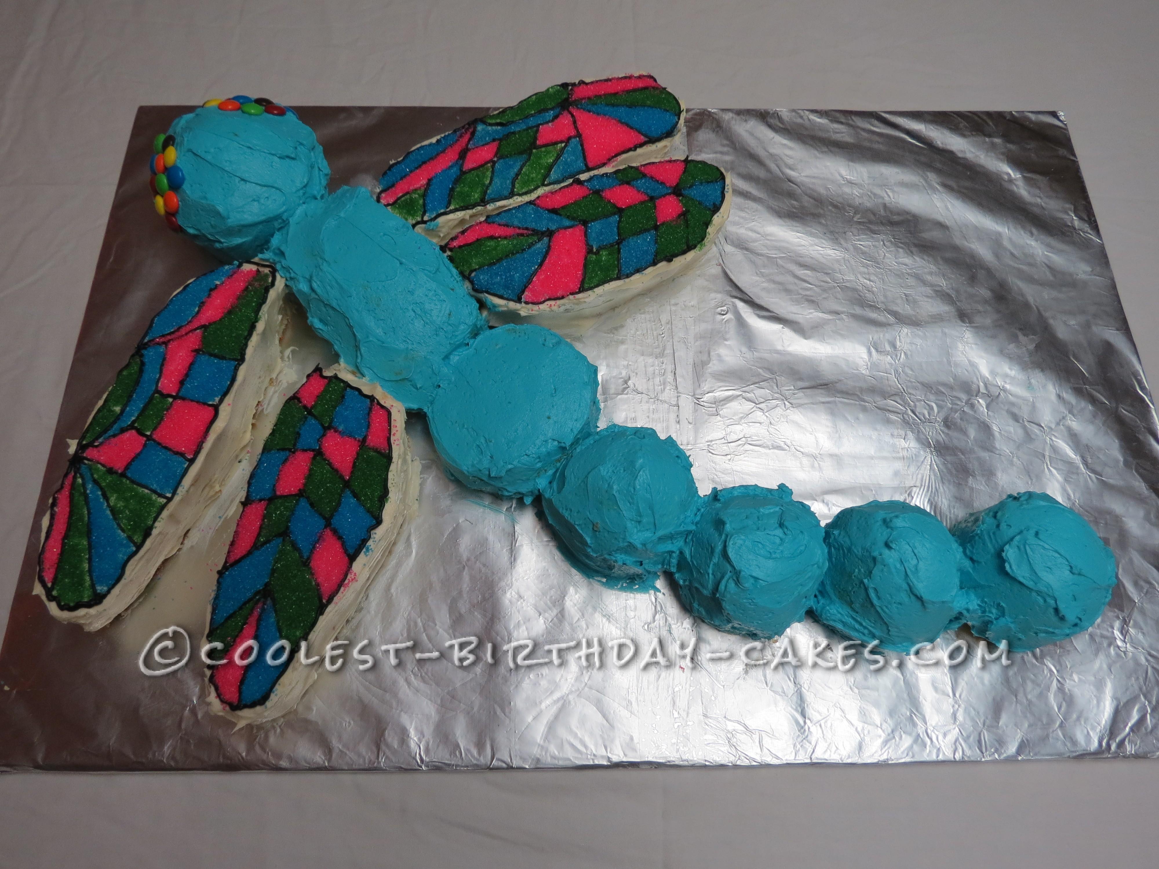 Cool Custom Dragonfly Cake