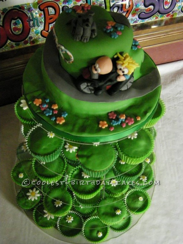 Debbie's 50th Birthday biker cake