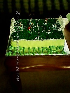 Football Pitch Birthday Cake For My Son's First Birthday