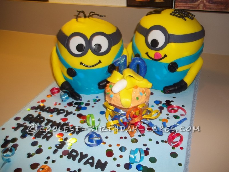 Coolest Minions Birthday Cake