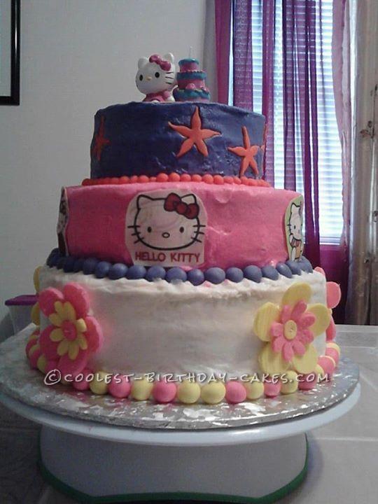 Last Minute Hello Kitty Birthday Cake